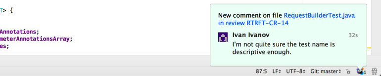IDE-notification